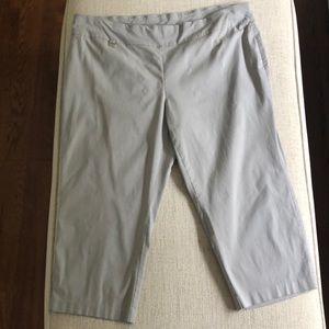 Alfani Women's Plus Size Capri Pants in Grey 24W